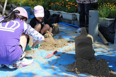 砂像制作体験コーナー(県立吹上浜海浜公園)