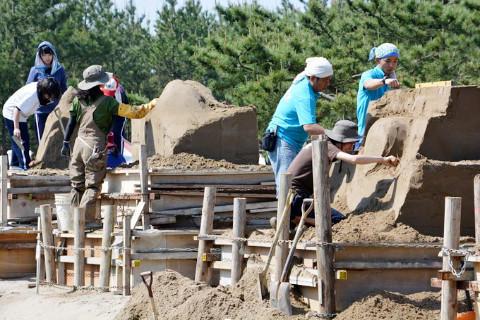 「砂の彫刻」選手権大会