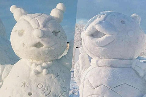 姉妹都市 交流記念雪像