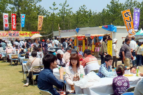 FOOD, DRINK, PRODUCE ZONE /MARCHE ZONE/EXHIBITION ZONE