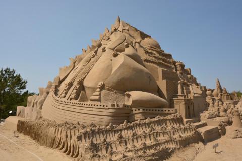 完成した砂像
