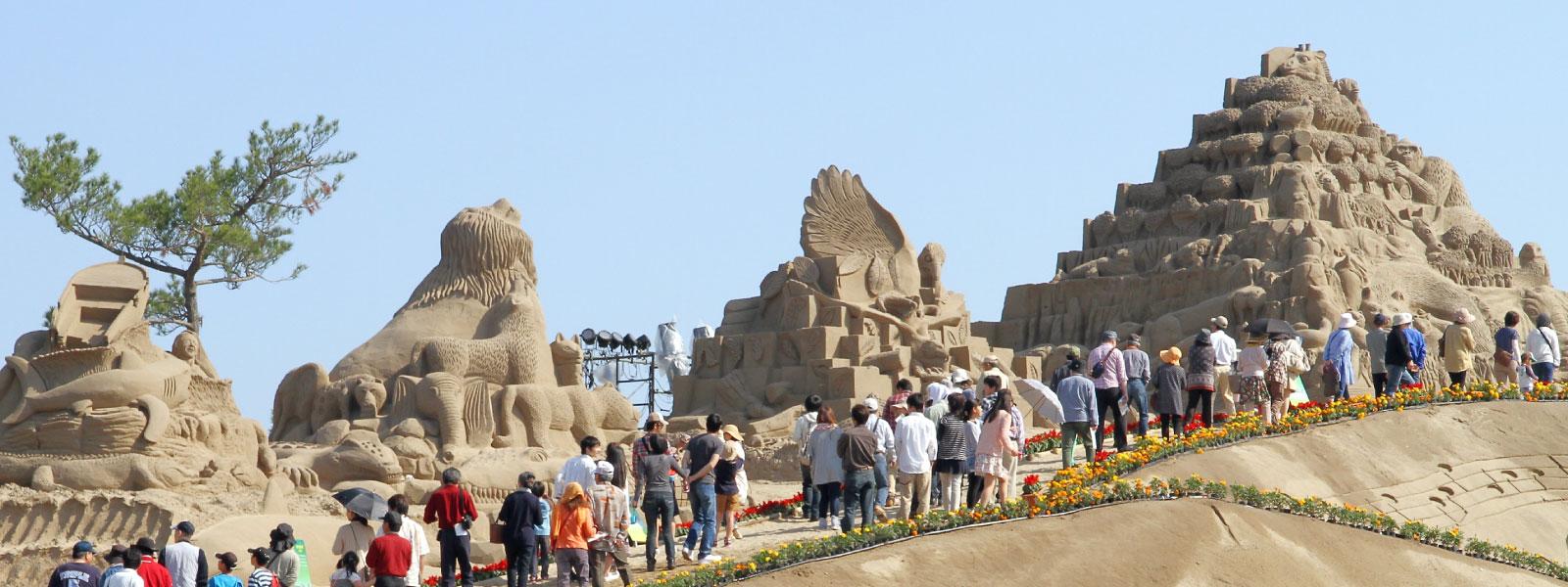吹上浜砂の祭典 メイン砂像