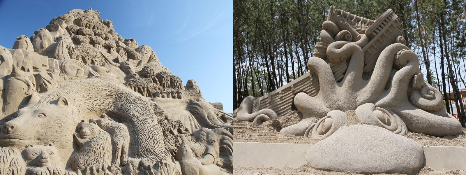 吹上浜砂の祭典 メイン砂像と招待作家砂像