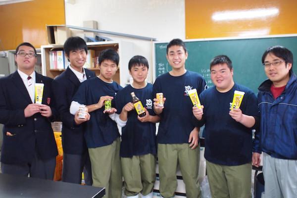 食品工学科の生徒のみなさんと福島先生