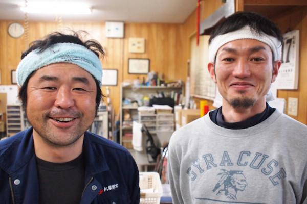 「六葉煙火」代表取締役社長 古閑 潔さんと橘薗 光宏さん